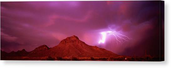 Thunderclouds Canvas Print - Tucson Az Usa by Panoramic Images