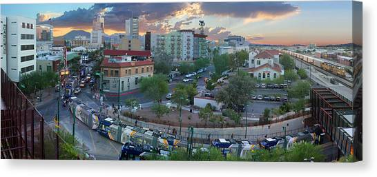 Tucson Streetcar Sunset Canvas Print