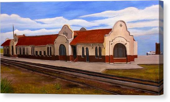 Tucumcari Train Depot Canvas Print