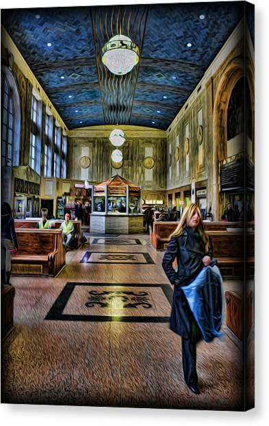Tuesday Afternoon At The Train Station Canvas Print by Lee Dos Santos