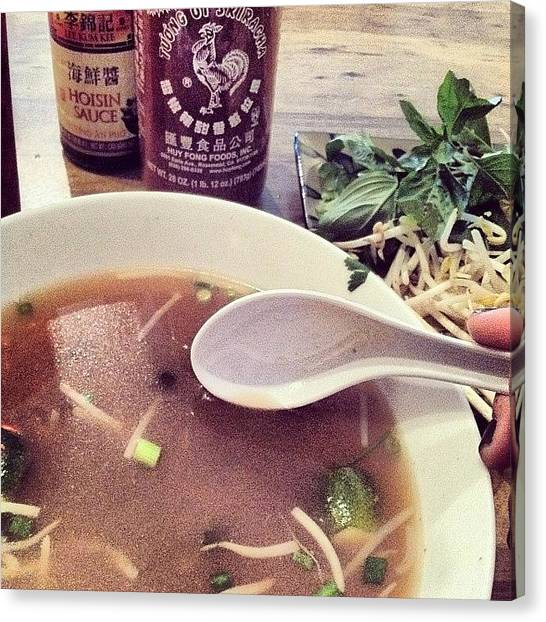 Onions Canvas Print - Tuesdays Are For Pho So Hot It Fogs by Katie Anderson