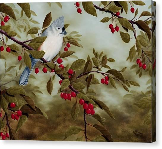 Titmice Canvas Print - Tufted Titmouse by Rick Bainbridge