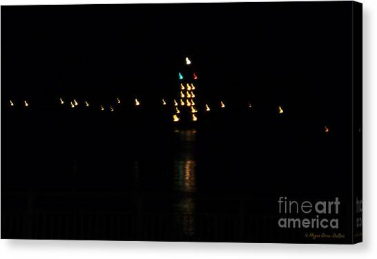 Tug Boat Light Painting Canvas Print