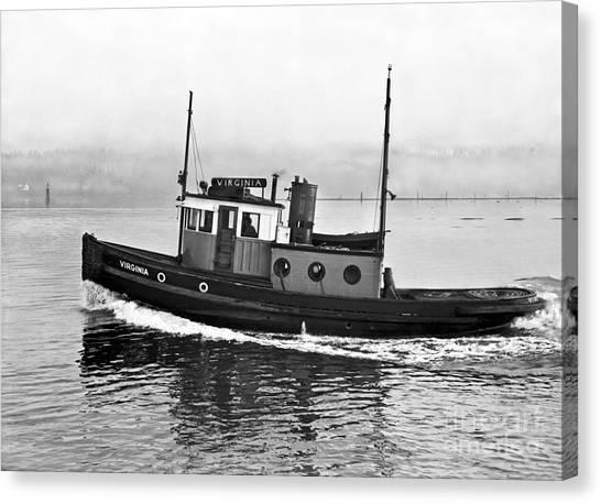Tug Boat Virginia 1930 Canvas Print