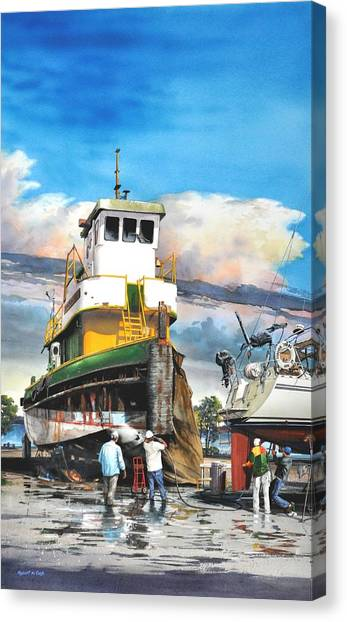 Tugboat Brown Gulf Canvas Print
