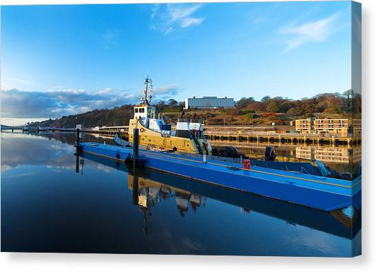 Waterford Canvas Print - Tugboat Moored At The River Suir by Panoramic Images