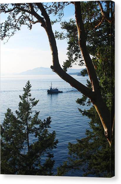 Tugboat Passes Canvas Print