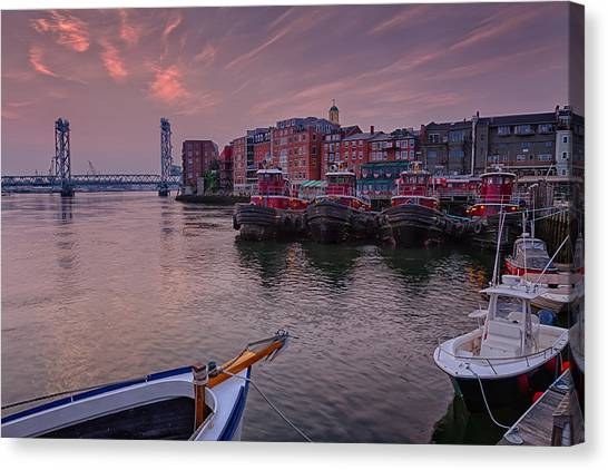 Tugboats Portsmouth New Hampshire Canvas Print