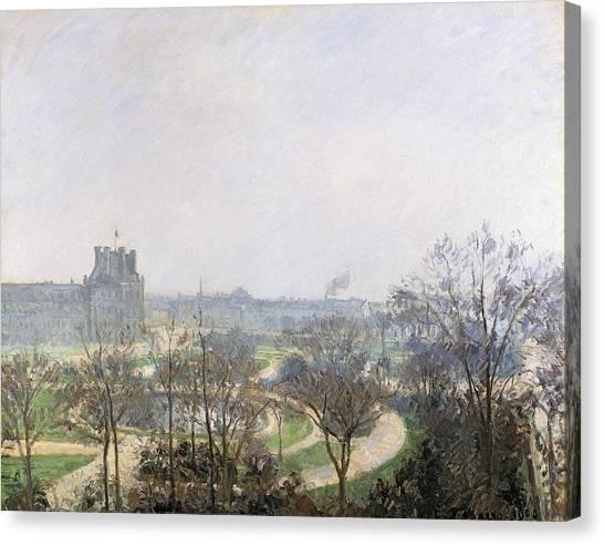 Jardin Canvas Print - Tuileries Gardens, 1900 by Camille Pissarro