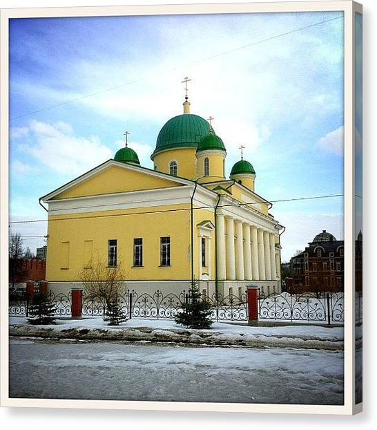 Dirt Road Canvas Print - Tula,russia.3.04.2013 #cityscape by Grigorii Arzhanykh