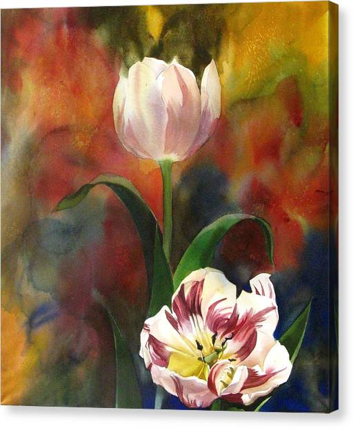 Tulip Abstraction Canvas Print by Alfred Ng