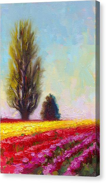 Tulip Sentinels Canvas Print