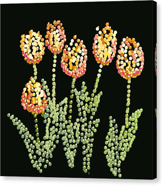 Tulips Bedazzled Canvas Print