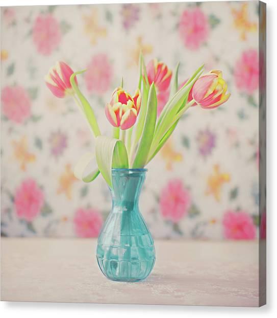 Tulips Canvas Print by Julia Davila-lampe