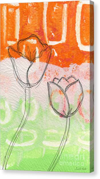 Floral Canvas Print - Tulips by Linda Woods