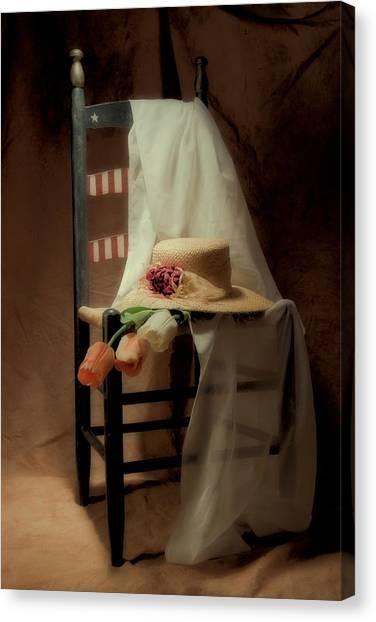 Tulip Canvas Print - Tulips On A Chair by Tom Mc Nemar