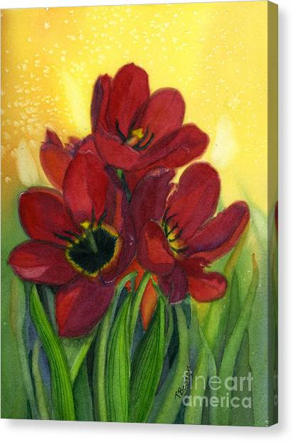 Tulips Canvas Print by Teresa Boston