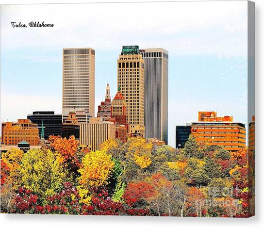Tulsa Oklahoma In Autumn Canvas Print