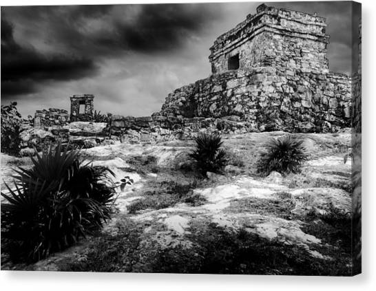 Canvas Print featuring the photograph Tulum Ruin by Julian Cook