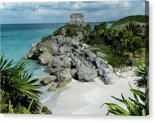 Tulum Ruins In Mexico Canvas Print
