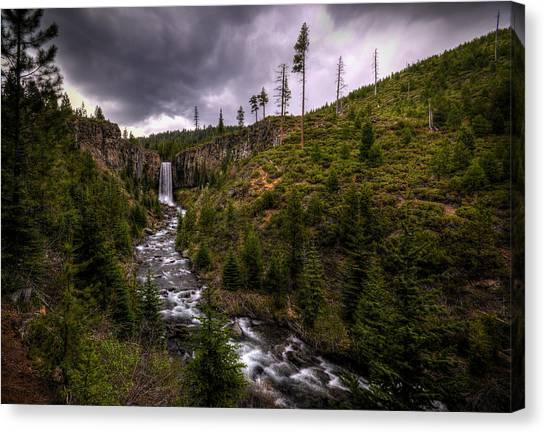 Canvas Print featuring the photograph Tumalo Falls by Matt Hanson