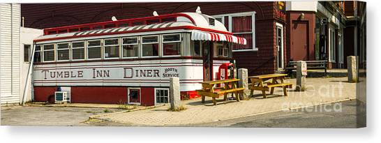 Diners Canvas Print - Tumble Inn Diner Claremont Nh by Edward Fielding