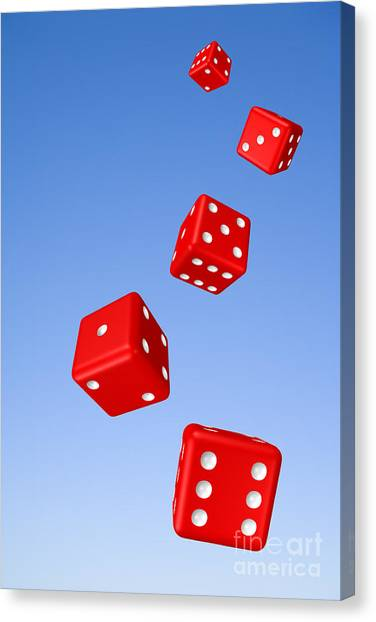 Tumbling Canvas Print - Tumbling Dice And Sky by Colin and Linda McKie
