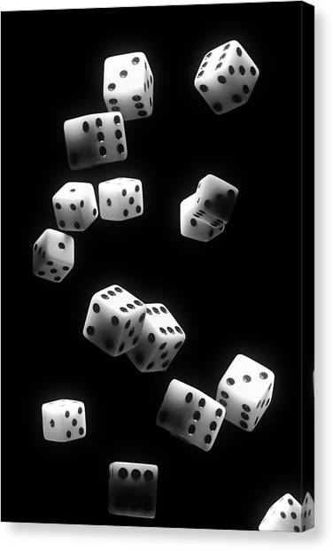 Tumbling Canvas Print - Tumbling Dice by Tom Mc Nemar
