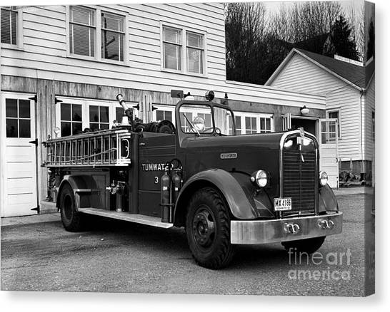 Canvas Print featuring the photograph Tumwater Fire Truck by Merle Junk