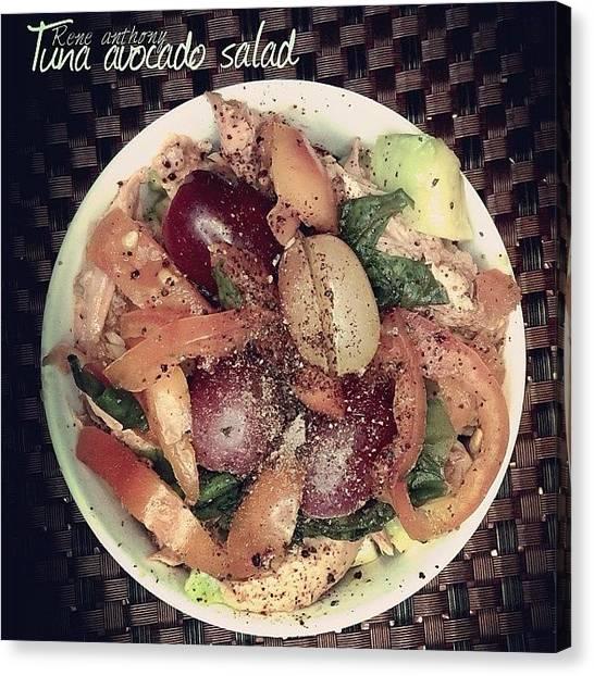 Tuna Canvas Print - #tuna #avocado #salad  By #rene by Rene anthony Ninte