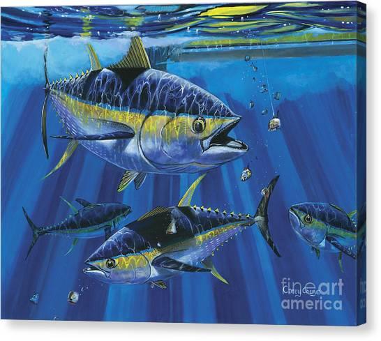 Tuna Canvas Print - Tuna Blitz Off0039 by Carey Chen