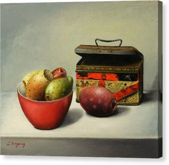 Tunas And Chinese Box, Peru Impression Canvas Print