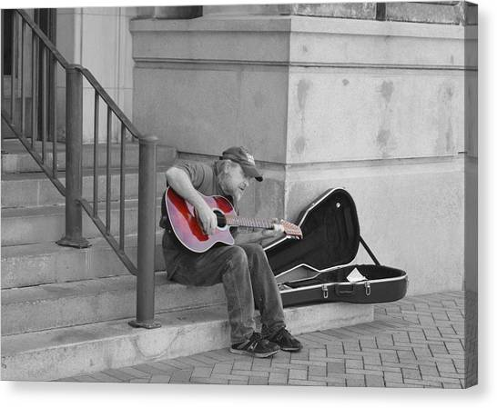 Street Scenes Canvas Print - Tunes Downtown by Doug Grey