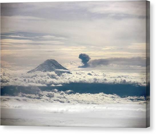 Ecuadorian Canvas Print - Tungurahua Volcano Erupting by Nasa