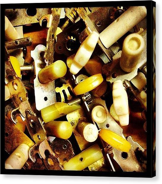 Guitars Canvas Print - Tuning Machines by Ken Powers