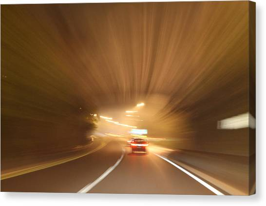 Tunnel 1704-51 Canvas Print by Deidre Elzer-Lento