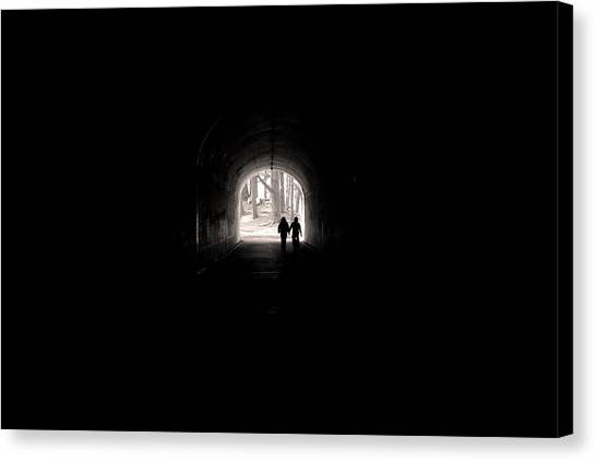 Tunnel At Marin Headlands Canvas Print
