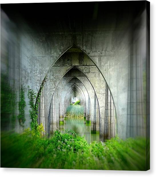 Tunnel Effect Canvas Print