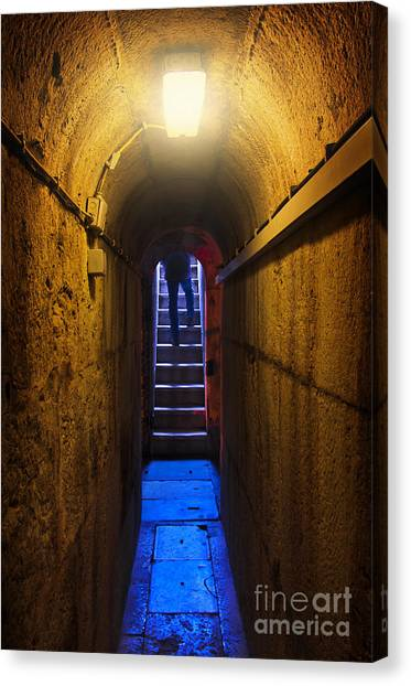 Dungeons Canvas Print - Tunnel Exit by Carlos Caetano