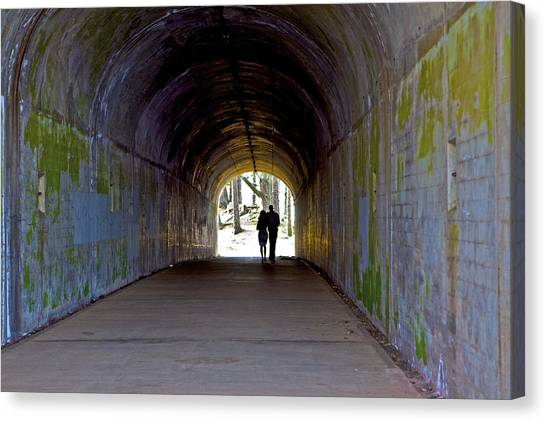 Tunnel Of Love Canvas Print