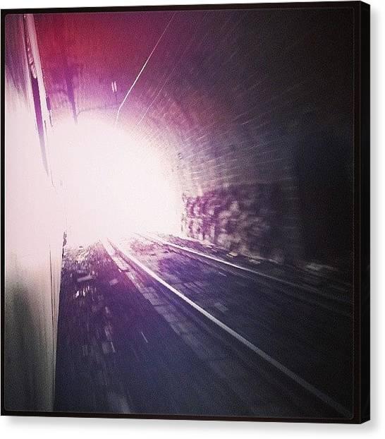 Light Rail Canvas Print - Tunneling Through #rail #railtracks by Ankit Ajmera