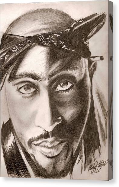 Tupac Canvas Print by Michael Mestas