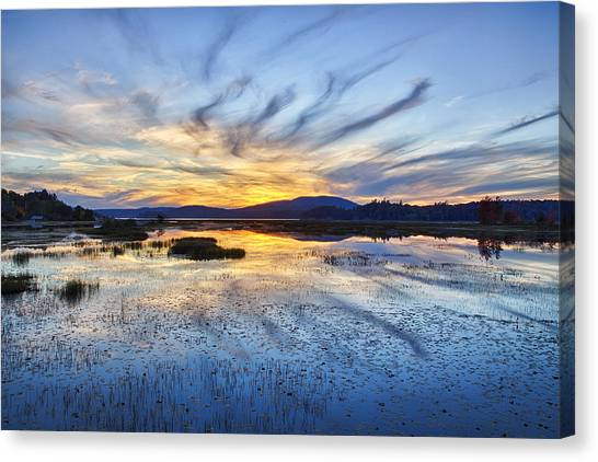 Tupper Lake Sunset Hdr 01 Canvas Print