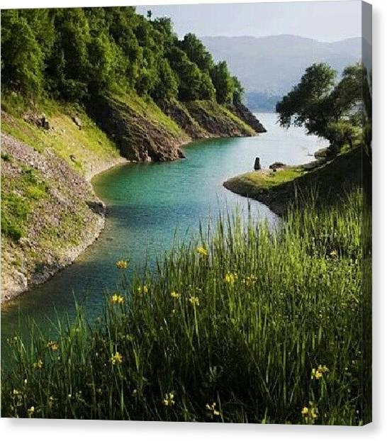 Landscapes Canvas Print - Turano's Lake by Emanuela Carratoni