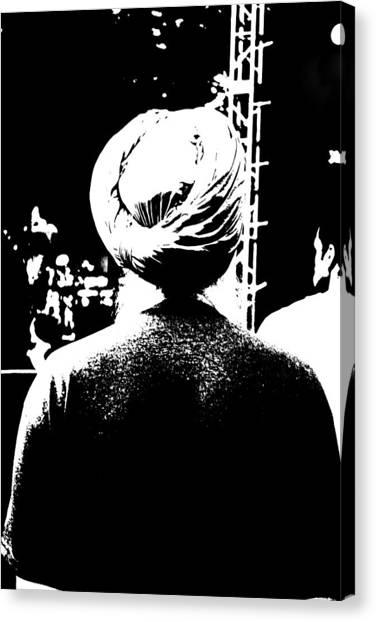Turbante Blanco Y Negro Canvas Print