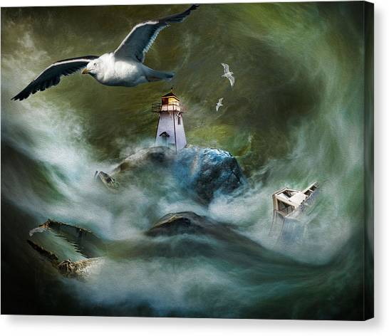 Turbulence At Irving Lighthouse Canvas Print