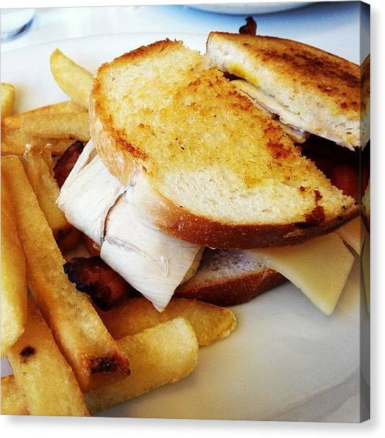Sandwich Canvas Print - Turkey Sandwich And Fries by Jamie Nakamoto