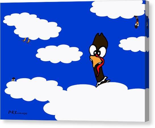 Turkeys In Flight Canvas Print