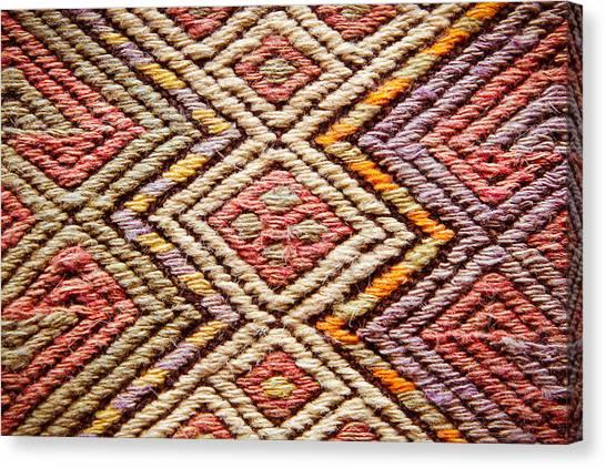 Iranian Canvas Print - Turkish Rug by Tom Gowanlock