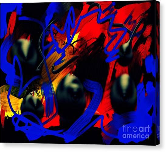 Turmoil Canvas Print